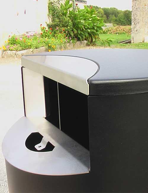 Встроенная пепельница уличной урны FINBIN CITY пластинка для тушения сигарет