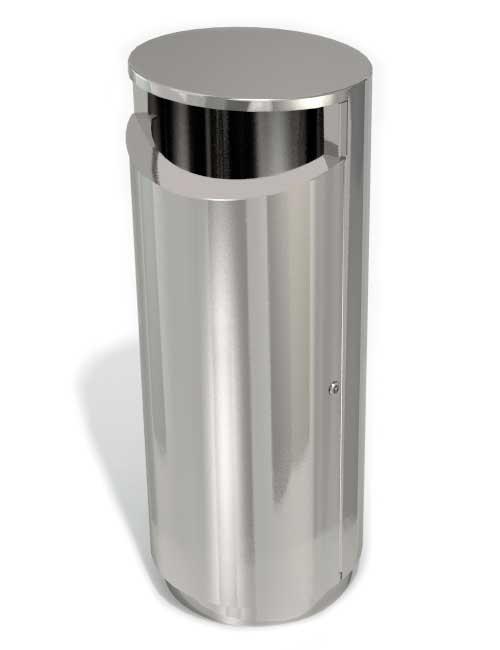 нержавеющая урна из металла 2 мм напольная на цоколе FINBIN NOVUS 120