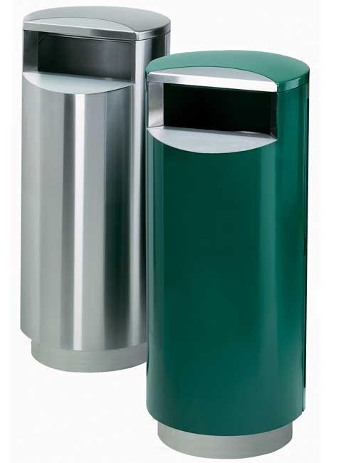 серия урн для мусора FINBIN CITY 140 зеленая RAL и нержавейка