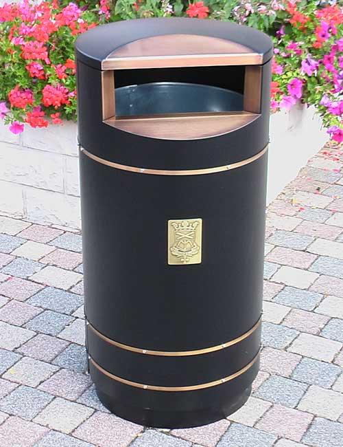 урна на улице с баком для мусора FINBIN CITY 140 особая серия