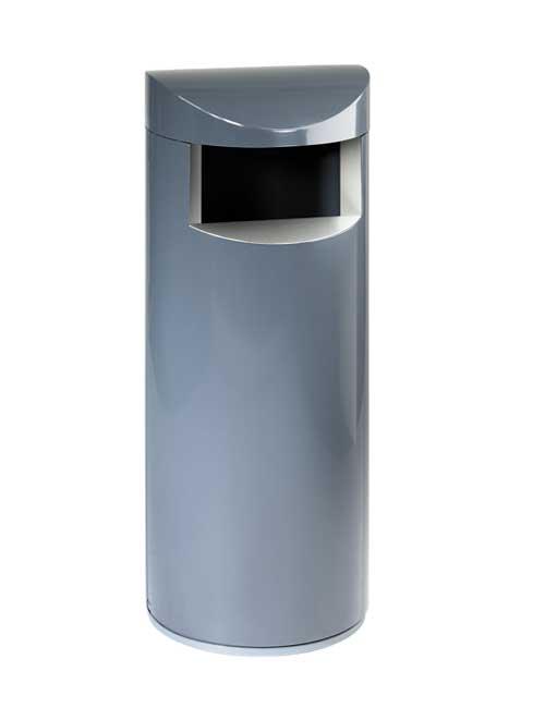 Урна на цоколе серого цвета FONBON UNIQUE 100 с закрытым верхом