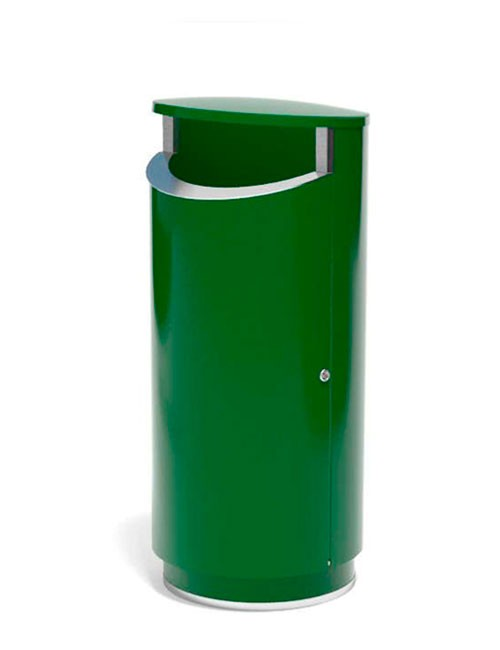 серия NOVUS FINBIN 160 литров урна уличная зеленая на цоколе