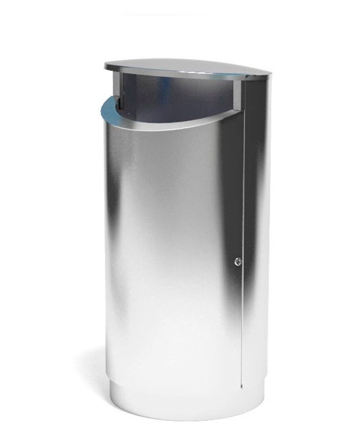 Нержавеющая урна толщина пищевой нержавейки 2 мм объем большой 200 литров FINBIN NOVUS 200