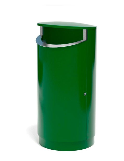 Урна уличная на цоколе металл 2 мм зеленый цвет RAL FINBIN NOVUS 200