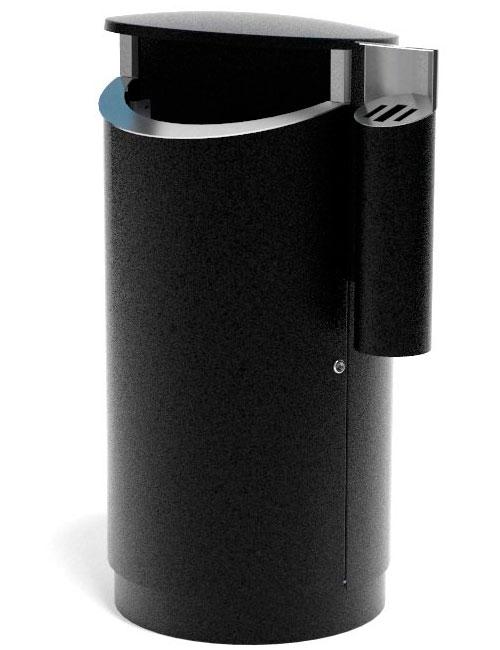 Урна вместимостью 200 литров уличная FINBIN NOVUS 200 COMBY черный металлик