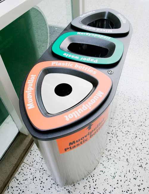 Отверстия для раздельного сбора мусора FINBIN Bemuda Triple