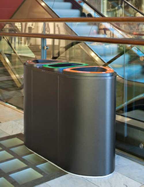 Урна черный металлик для раздельногго сбора мусора BERMUDA FINBIN
