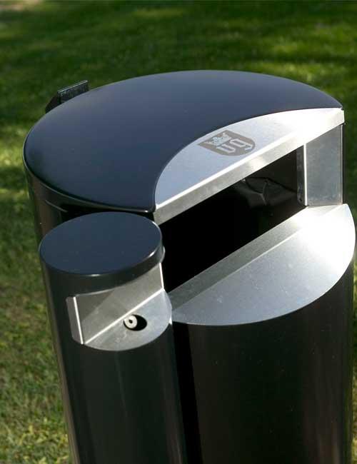 пепельница и приемное отверстие мусорной урны серии CITY от FINBIN