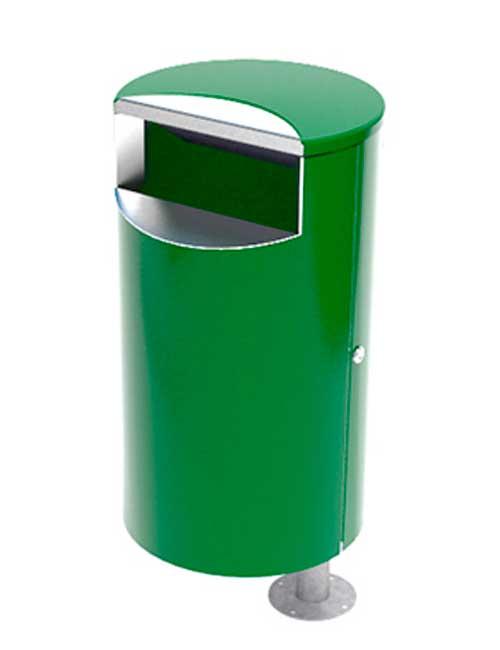 Урна FINBIN CITY 60 зеленого цвета, установка на столб