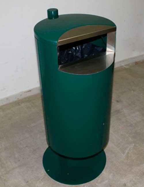 Урна для мусора в офисе FINBIN CITY 60 установка на платформе зеленый цвет