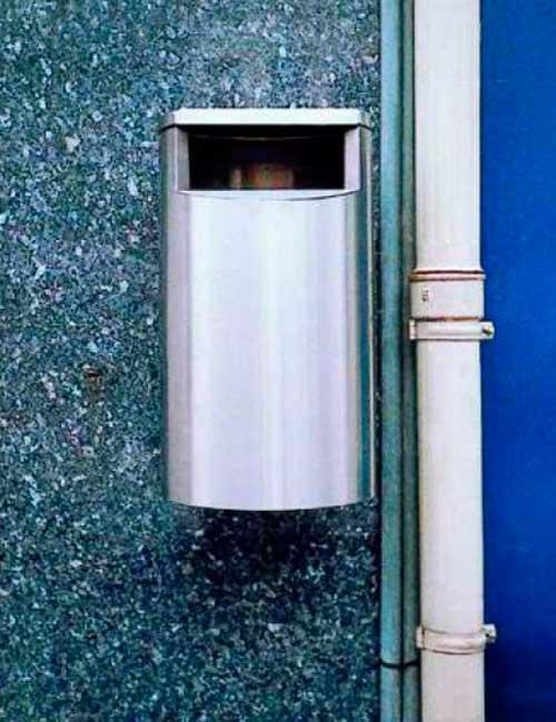 урна для мусора нержавеющая с креплением на пластине FINBIN CITY 60