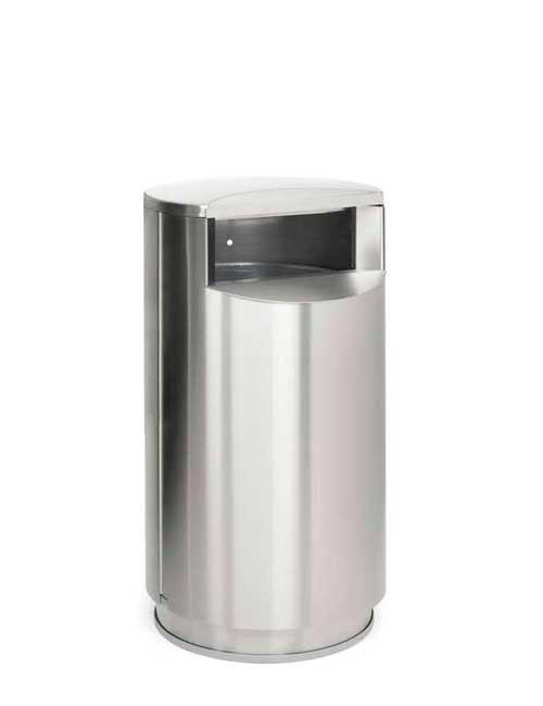 Нержавеющая урна на цоколе объем 60 литров FINBIN CITY 60