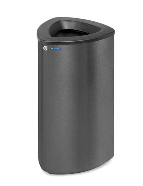 Урна мусорная BERMUDA 80 для торговых центров черный металлик