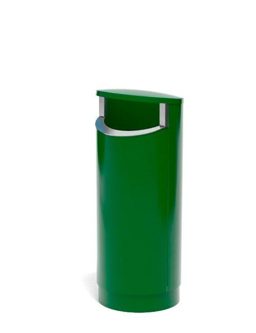 зеленая урна из металла 2 мм 80 литров FINBIN NOVUS 80