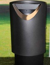 Урна мусорная металлическая FINBIN Элипс 60 на в