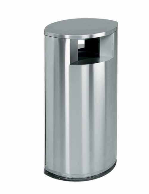 Нержавеющая урна для мусора FINBIN OVAL