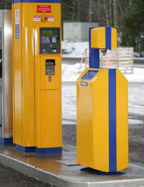 Урна мусорная для автомобильных заправок АЗС FINBIN ROBOMAT