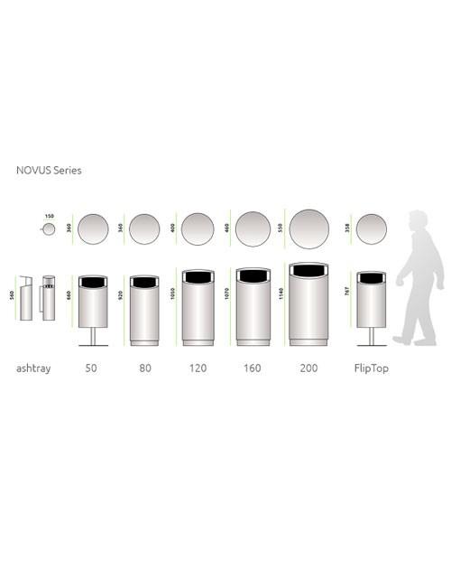 Габаритные размеры урн серии NOVUS