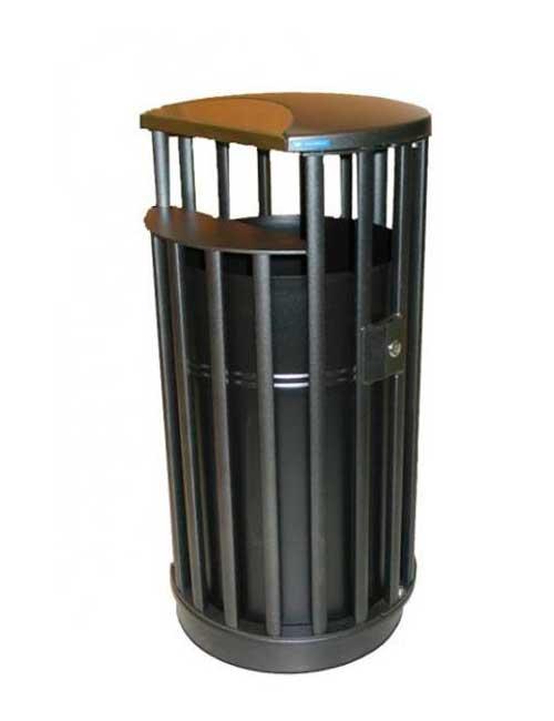 Урна с баком для мусора парковая закрытый верх FINBIN CITY CASTLE