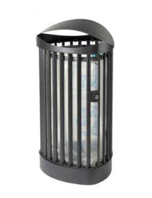 Урна парковая черный металлик мешок для сбора мусора закрытый верх FINBIN CITY CASTLE