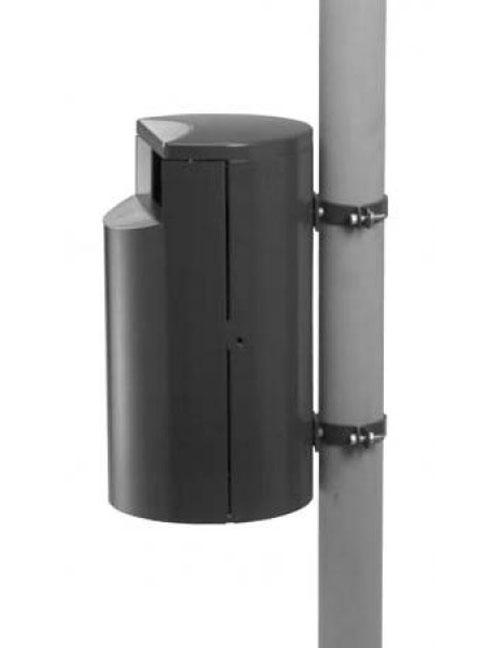 Урна для сбора мусора FINBIN City 30 крепление на трубу, цвет серый