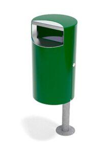 Урна мусорная зеленая FINBIN CITY 30, монтаж на столб