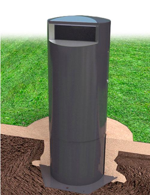 урна для мусора установка в парках и скверах металлическая заглубляемая CITY TERRA (Финляндия)