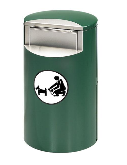 урна для уборки за собаками FINBIN CITY DOGGY зеленого цвета