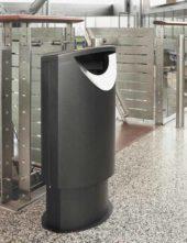 черная урна из металла FINBIN ELLIPSE 60 в аэропорт