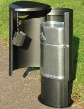 внутренний оцинкованный бак мусорной урны FINBIN