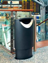 мусорная урна в аэропорту finbin ellipse 60