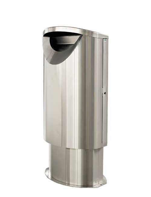 Красивые металлические мусорные урны FINBIN ELLIPSE 60