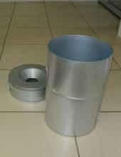 бак для мусора и контейнер для приема окурков пепельницы FINBIN VOLCANO
