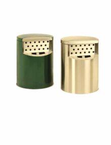 пепельницы из нержавеющей стали и зеленого цвета FINBIN HOTBIN