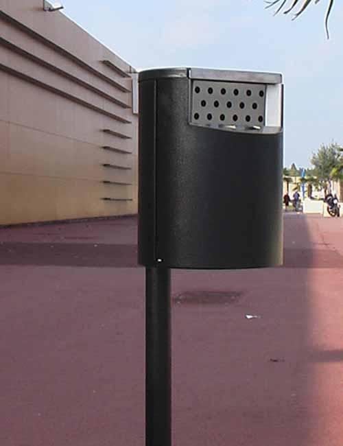 уличная пепельница для курения FINBIN CITY HOTBIN металлик