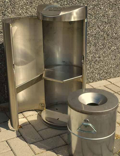 Дверка пепельницы FINBIN VILCANO открытая c баком для окурков из нержавейки