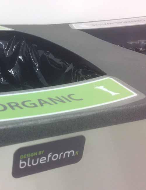 отсеки для сбора органического мусора раздельный сбор в урны FINBIN WAVE 3
