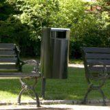 парковая зеленая урна для мусора из метала FINBIN CITY 60