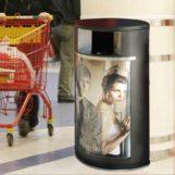 Рекламная урна в магазине FINBIN OVAL