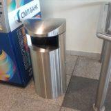 урна в аэропорту из нержавеющей стали FINBIN UNIQUE