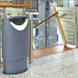 урна черного металлика в аэропорту FINBIN ELLIPSE 60