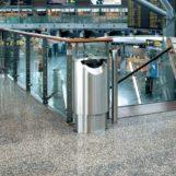 элитная урна в аэропорту FINBIN ELLIPSE 60 нержавеющая сталь, 2012 год