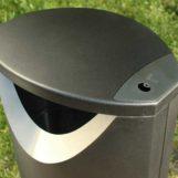 Урна с контейнером для курения ELLIPSE, черный металлик