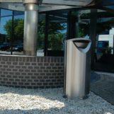Урна мусорная уличная Ellipse 100 нержавеющая сталь