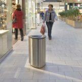 урна для мусора в супермаркете FINBIN BERMUDA 80 из нержавеющего металла