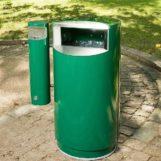 CITY 60 COMBY ФИНБИН урна с пепельницей для курения в парке, цвет зеленый