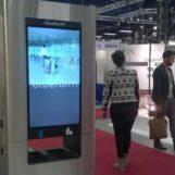 Урна для рекламы в торговом центре FINBIN MEDIABIN с монитором жк