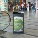 вход в кинотеатр мусорная урна с рекламой FINBIN PROMO