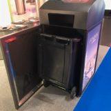 Стандартный мусорный бак урны FINBIN MEDIA с компактером
