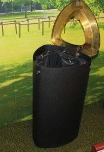 урна мусорная черный металлик FINBIN BERMUDA 80 особая серия